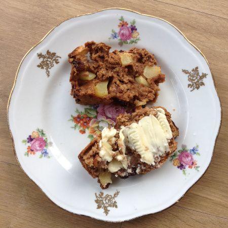 Gezonde suikervrije recepten: Appelbrood met roomboter