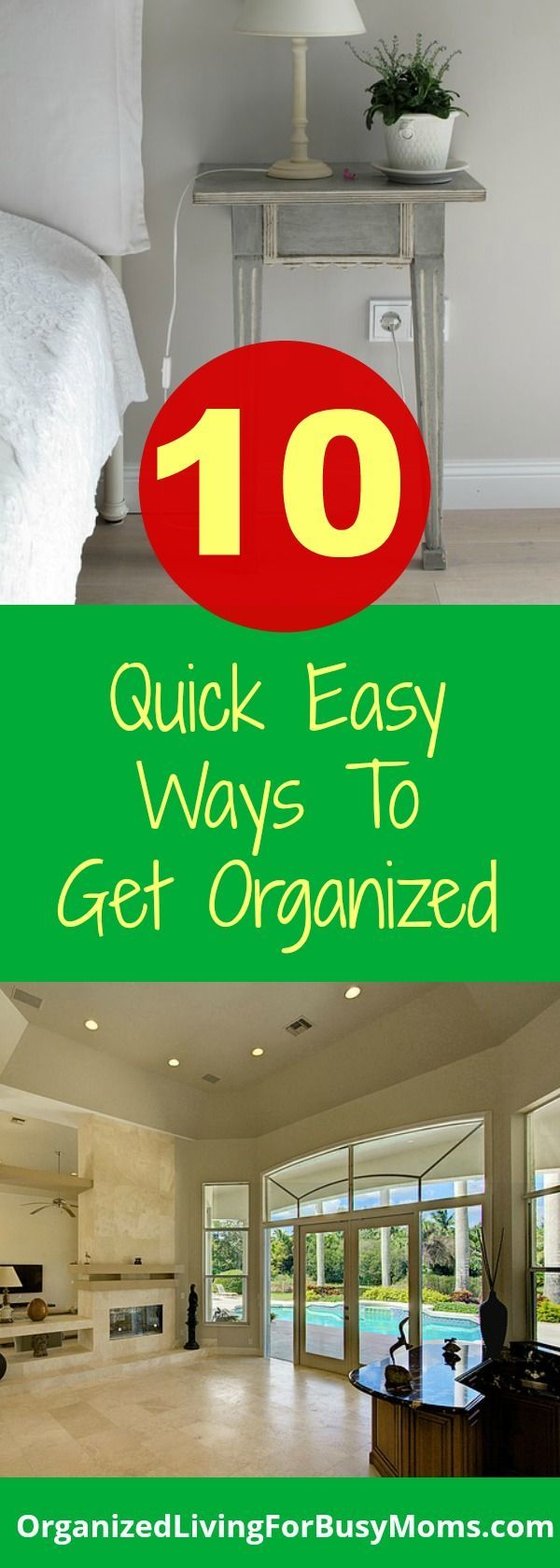 Use these ten quick, easy ways to get organized this week. Life as a busy mom can be so crazy and using organization tips can help make it a little easier along the way!