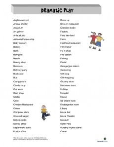 refer to this PDF often during planning -- tons of NEW and different dramatic play ideas :)