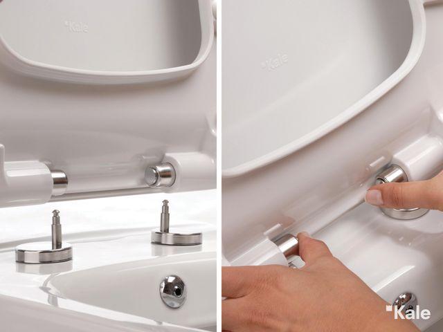 Tak-çıkar özelliğiyle kolay temizlenen klozet kapağı: SmartKapak. #Kale #banyo #smart #tasarım #bathroom #bathroomidea #dekorasyon #dekorasyonönerileri #decorationidea