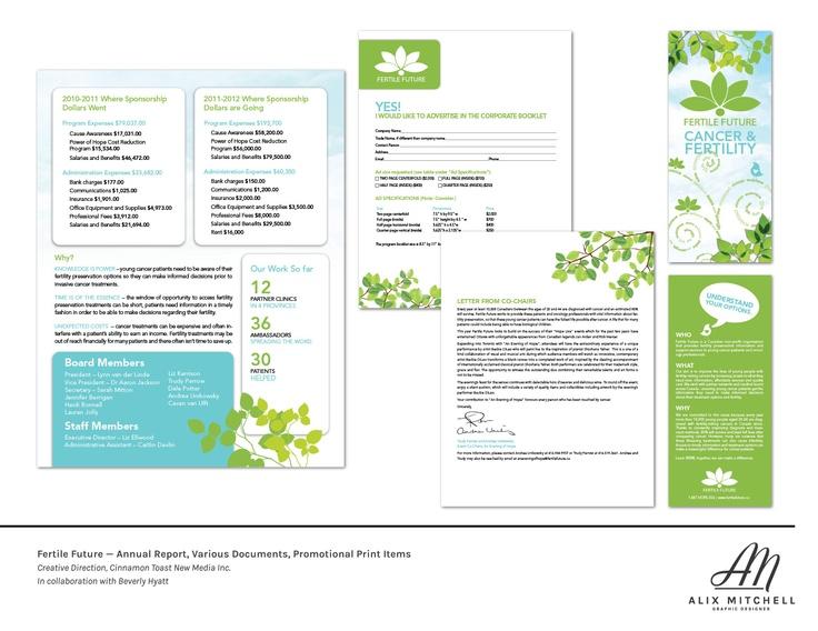 Fertile Future print items (Designed while at CTNM)