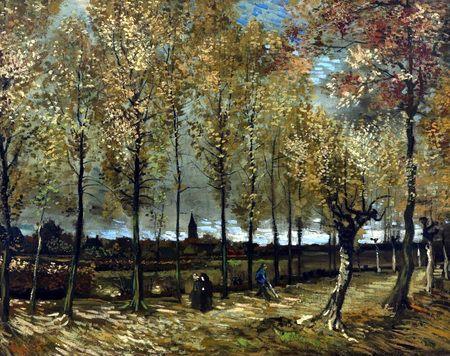 Filari di Pioppi nei Pressi di Nuenen. Un altro esempio della rappresentazione della natura lasciatoci da Van Gogh.