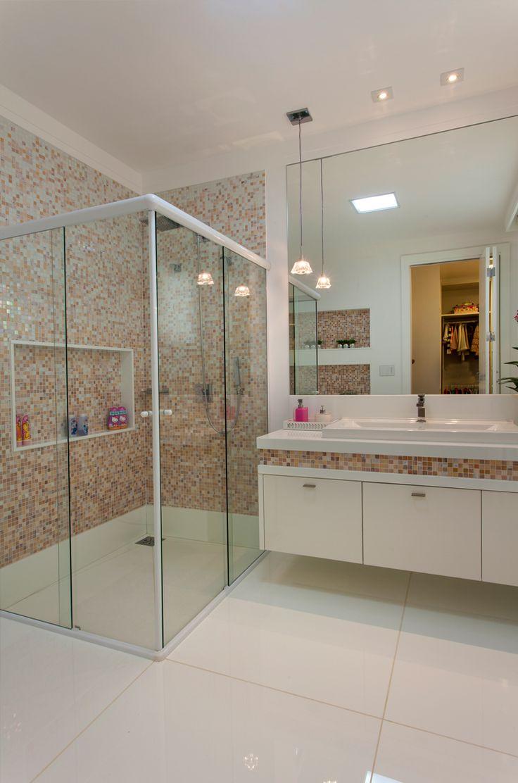 17 melhores ideias sobre Banheiros Decorados Com Pastilhas no Pinterest  Dec -> Banheiro Decorado Marron