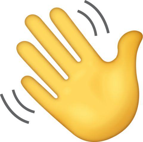 Waving Hand Emoji [Free Download IOS Emojis] | Hand emoji ...