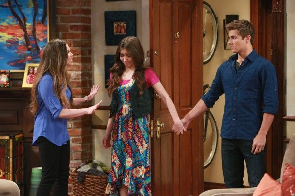 """GIRL MEETS WORLD - """"Girl Meets the New World"""" - Riley and Lucas's classmates are curious as to what's going on with their relationship, which ultimately confuses them more than ever before. This episode of """"Girl Meets World"""" airs Tuesday, May 12 (8:30 PM - 9:00 PM ET/PT), on Disney Channel. (Disney Channel/Ron Tom) DANIELLE FISHEL, ROWAN BLANCHARD, PEYTON MEYER"""