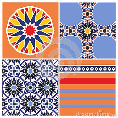 Arabic pattern design - 4 x example inspiration