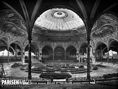 Paris. Exposition universelle de 1900. Palais de l'Alimentation, la salle des fêtes.