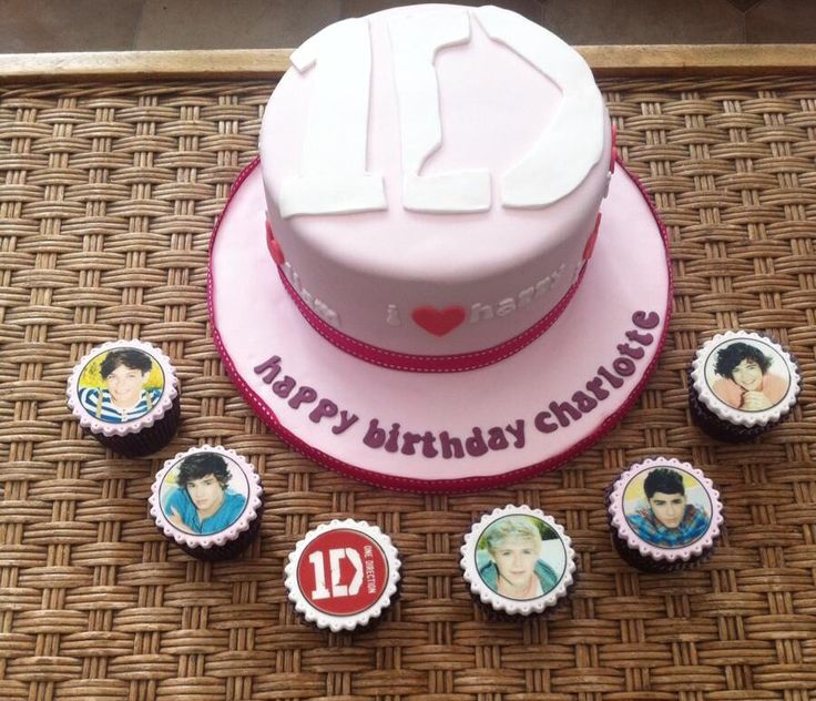 One direction cake and cupcake