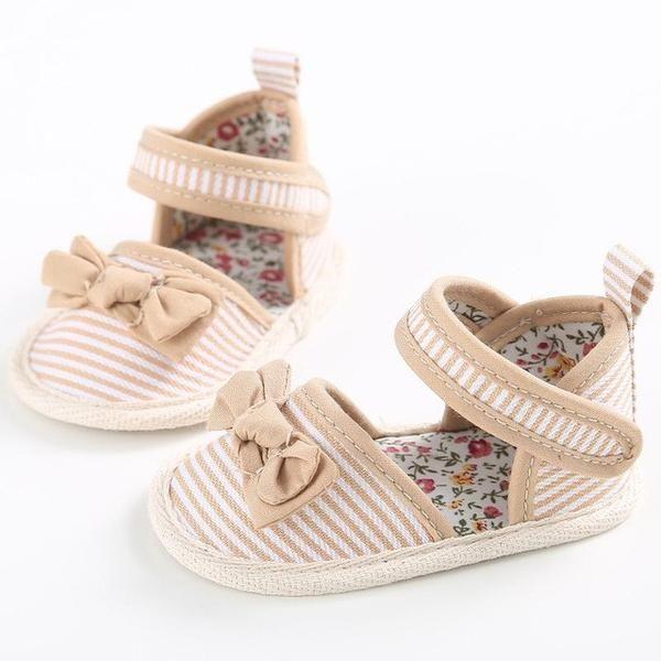 Princess Stripe Bow-knot shoes