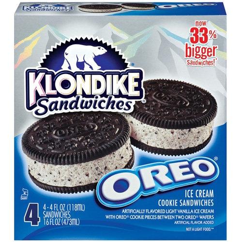 Klondike: Oreo Cookie Ice Cream Sandwiches