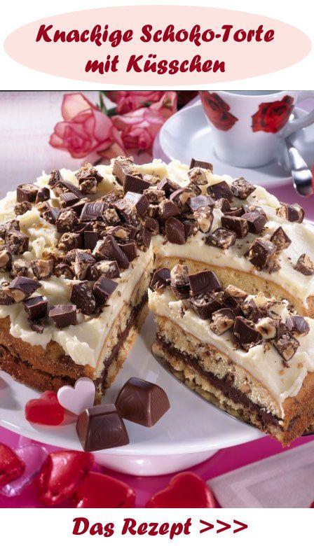 Wenn du Schoko-Küsschen magst, wirst du die Torte lieben!