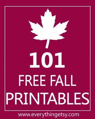 101 Free Fall Printables on EverythingEtsy.com