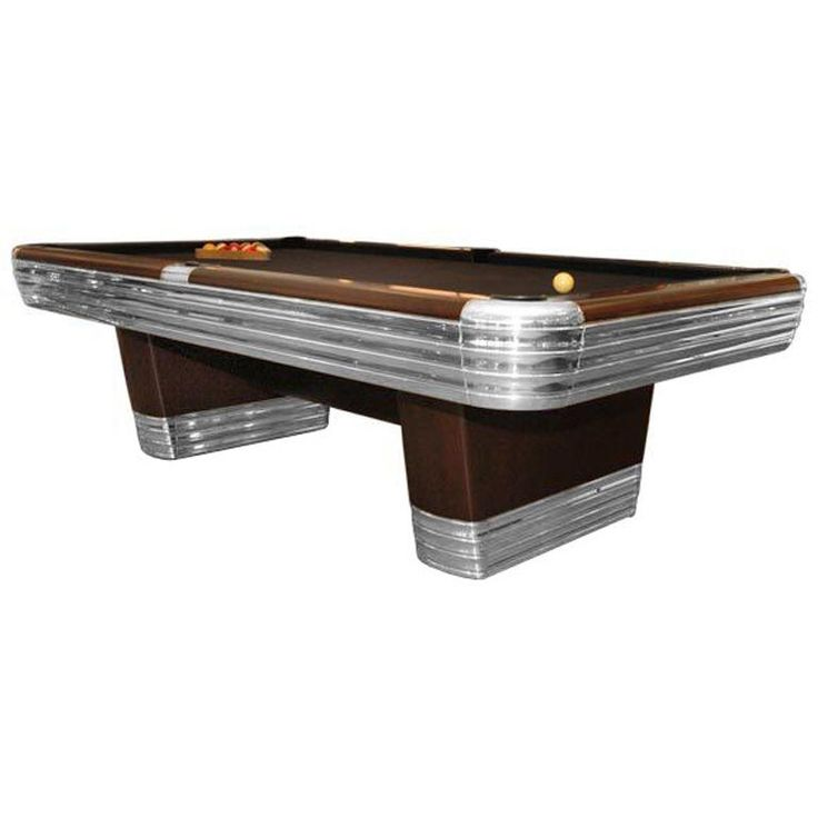 Centennial Tournament Pool Table by RI Anderson for Brunswick | See more antique and modern Games at https://www.1stdibs.com/furniture/more-furniture-collectibles/games