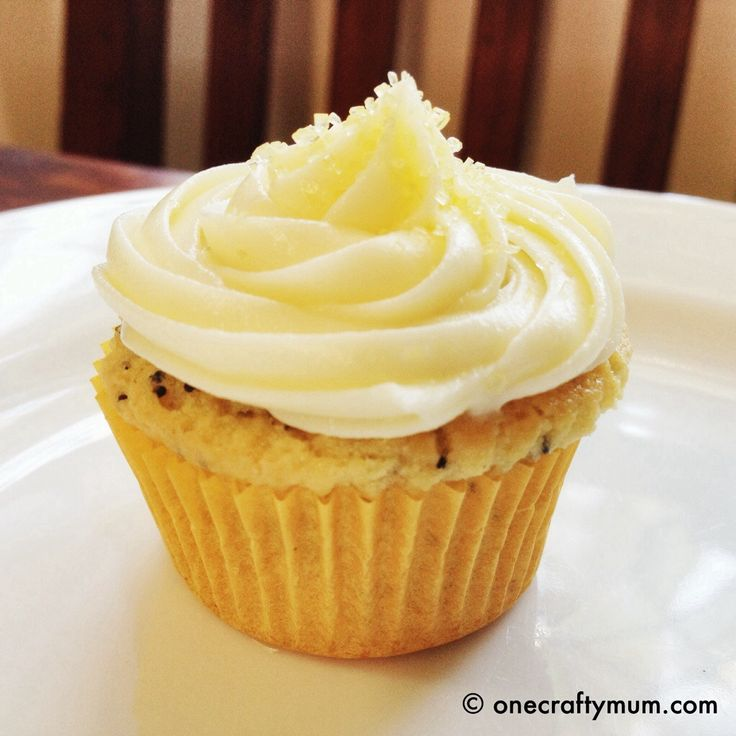 Lemon and Poppy Seed Cupcake with Cream Cheese in the Thermomix