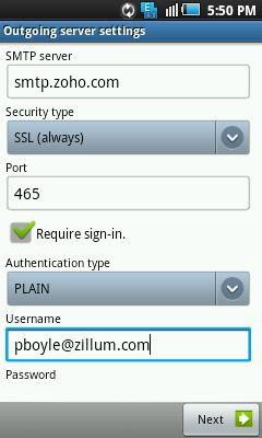 Configure in Android