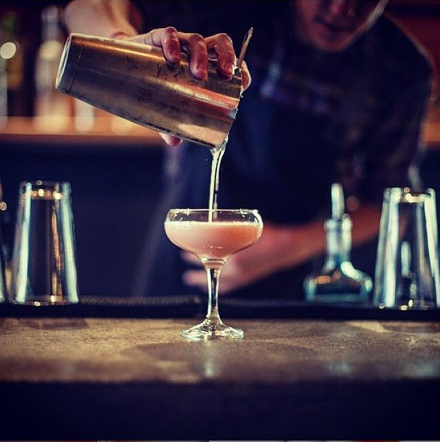 Thrice charcoal filtered into copper stills before being bottled, 666 Pure Tasmanian Vodka has been described as one of the purest, cleanest vodkas on the planet. Here it's mixed with amaretto, guava and grapefruit by the people at Polēpolē Bar.