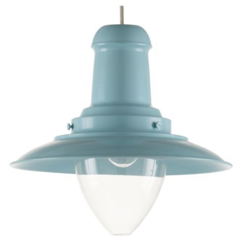 Buy Tesco Lighting Fisherman's Spun Metal Pendant Light, Duck Egg Blue from our Pendants range - Tesco.com