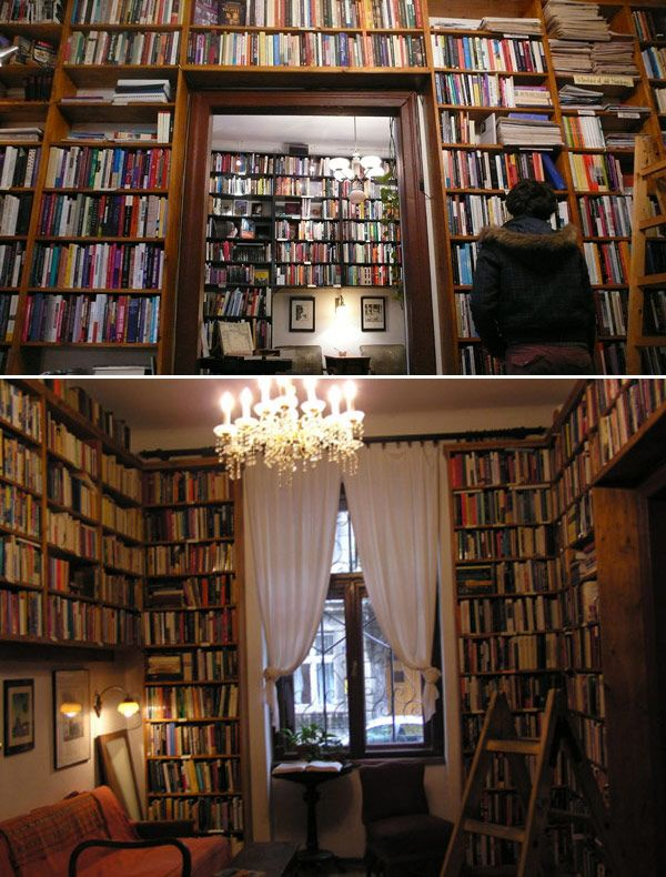 """""""A BookRoom? You want a BookRoom? I'll give you a BookRoom. I've been looking for a chandelier spot anyway. Mmmmm, candystore for our minds in our own home -- Yeah, I like it.""""  ~ Absolutely*Kate at the SeaHome // #seahome, #library, #books, #AbsolutelyKate"""