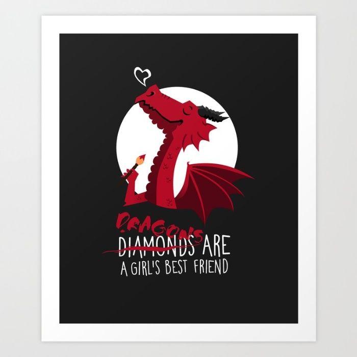 Dragon friend Art Print by Erika Biro | Society6