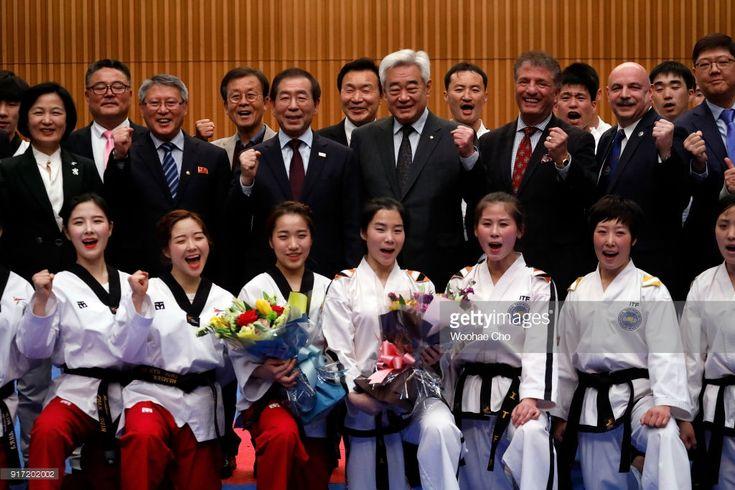 News Photo February 12 2018 : Epic moment  North Korean and South Korean taekwondo...
