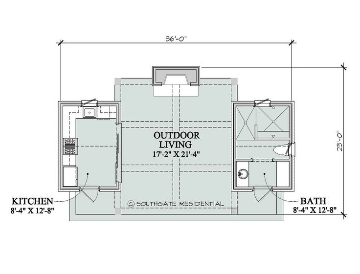Pool house floor plans southgate residential poolhouse Pool house guest house plans
