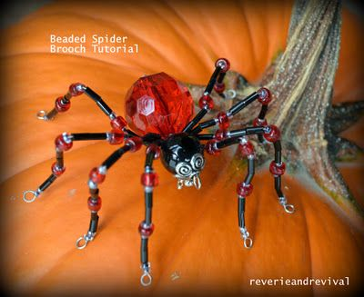 Eek... A beaded Spider! Brooch.