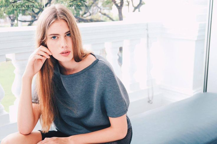 beautiful Sanne in our DEEP GREY TOP // Singapore @disstrictclothes
