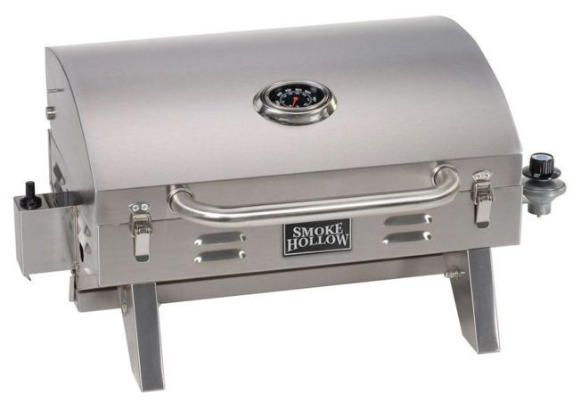 Portable Stainless Steel Gas Grill Tailgate Camping Grill Propane Table Top BBQ #SmokeHollow