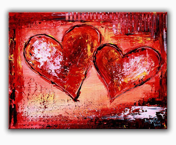 BURGSTALLER Herzbilder Acrylbild abstrakt Liebe Partner Mutter Geschenk Herz 134 http://www.burgstallers-art.de/online-shop/herzbilder/
