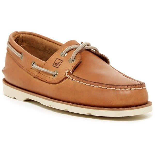 Sperry Leeward 2-Eye Boat Shoe - Wide Width Available ($70) ❤ liked on Polyvore featuring men's fashion, men's shoes, men's loafers, mens wide shoes, mens slip on shoes, mens rubber boat shoes, mens canvas slip on deck shoes and mens rubber slip on shoes