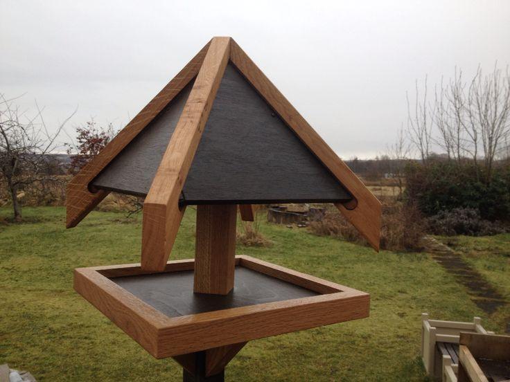 Oak framed bird table