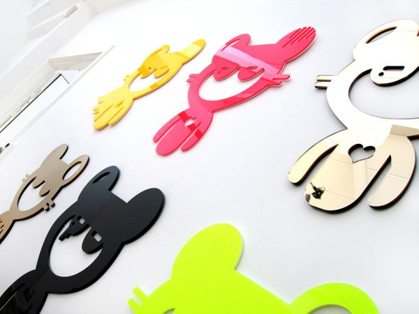 Plastic 3D Wall Stickers by Ieva Glasius-Nyborg, via Behance