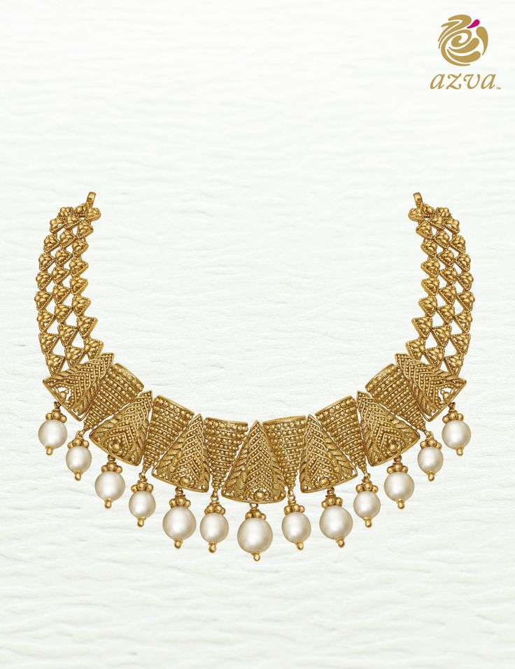 Azva contemporary gold necklace. Bridal jewellery for your wedding vows. #Goldjewellery #luxury #style