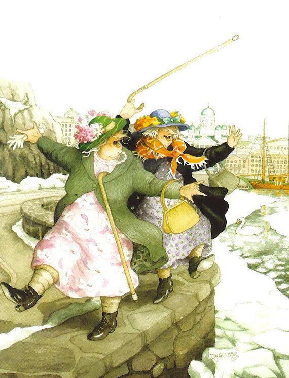"Wall Decor-Wall Art  Print - Inge Löök's Old Ladies-Grandmothers-Awesome Grannies-Funny Grannies- Print 8 x 10"""