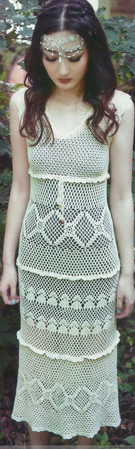636 best Vestidos em croche images on Pinterest | Crochet dresses ...
