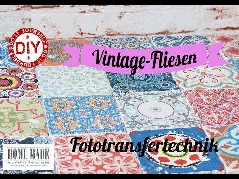 Homemade By Patricia Morgenthaler: DIY: Vintage Fliesen Selber Machen