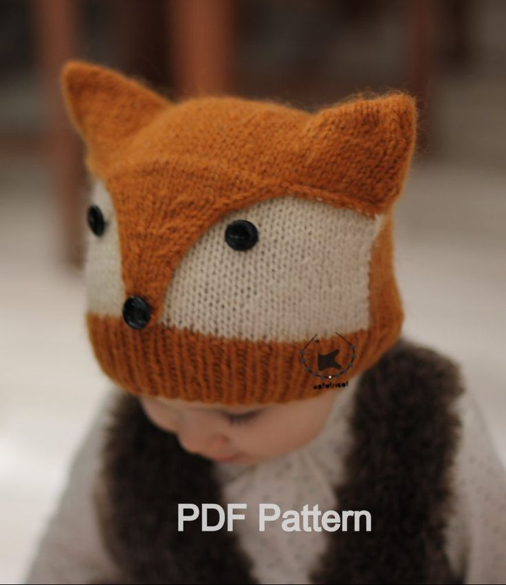 Animal Hat Knitting Patterns : Best 25+ Fox hat ideas on Pinterest Fall crochet hats, Crochet baby hat pat...