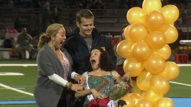 Ontario High School crowns special needs student homecoming queen