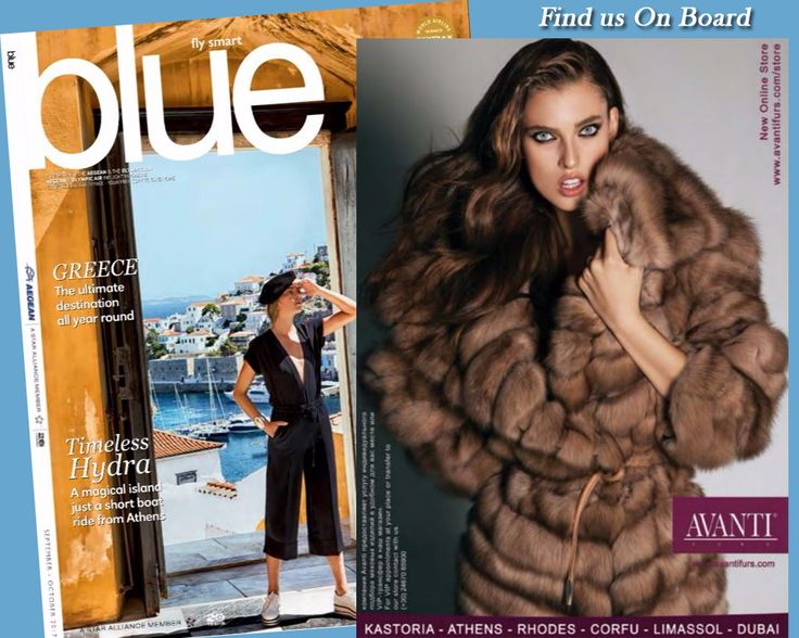 Find us on board!  #blue #magazine #avantifurs #kastoria #flight #airplane #onboard #find #buyonline #order #newcollection #discover #luxury #brands #brandname #furs #fashion #greekfurs #travel