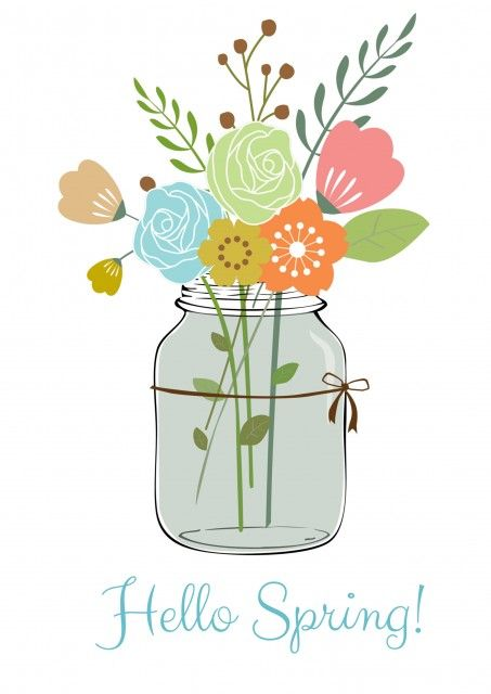 Happy Spring Free Printable - A Sparkle of Genius
