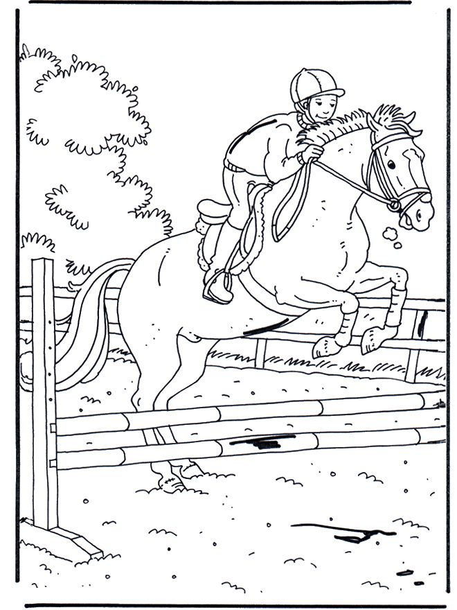 Ideal Horse Jumping Coloring Pages 44 coloriage