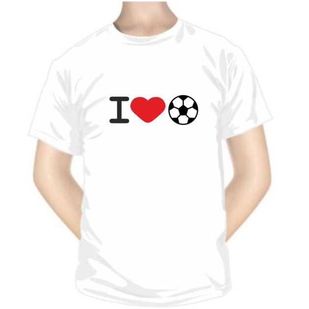 Tee shirt de sport: I love FOOTBALL - Pour les sportifs - SiMedio