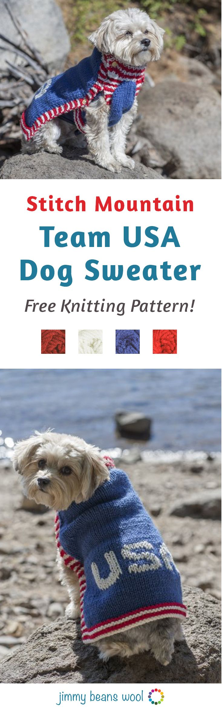 34 best jimmy beans wool images on pinterest knitting for stitch mountain team usa dog sweater free knitting pattern free knitting pattern knit your bankloansurffo Gallery