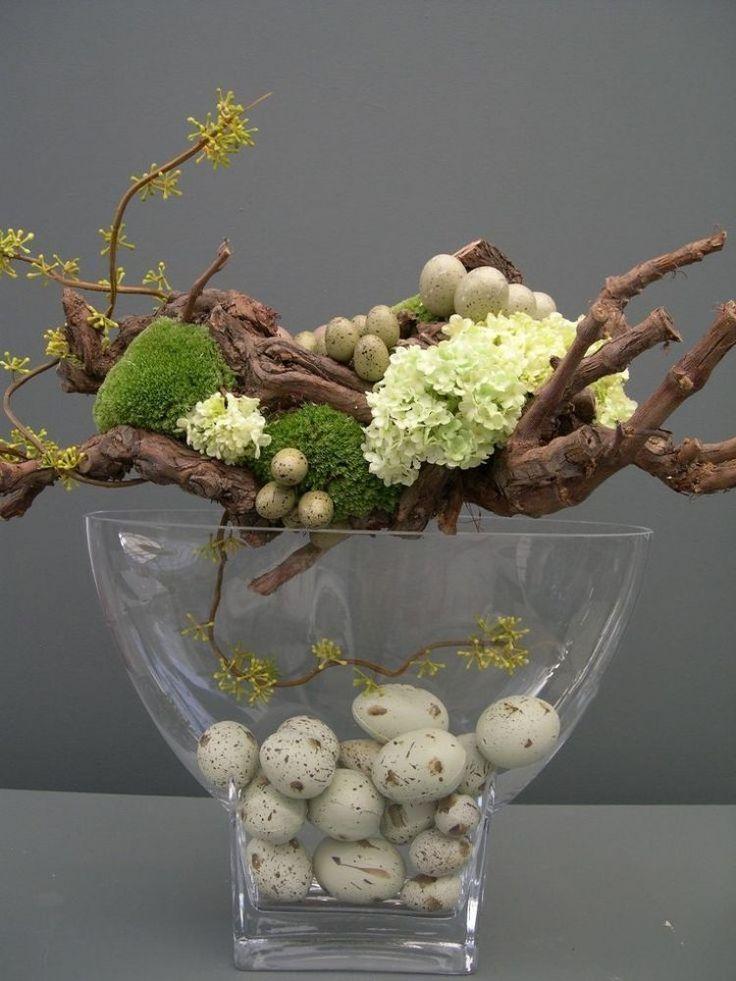 déco pas cher pour le printemps branches avec hortensia