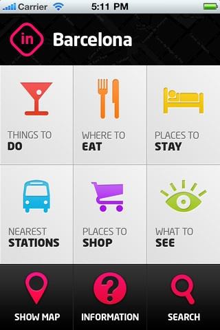 iPhone Barcelona travel app