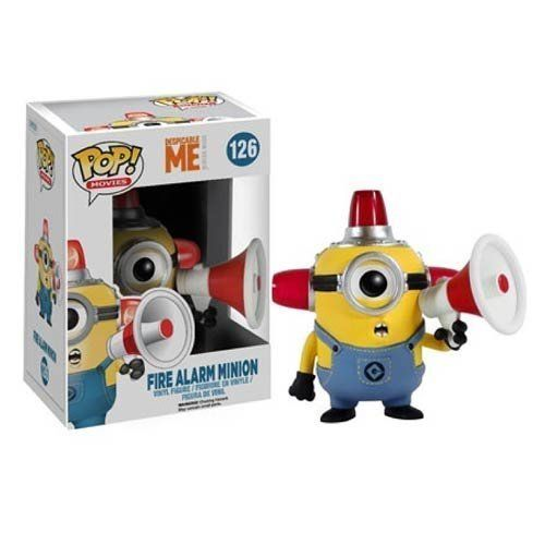 Funko ?POP Movies: Despicable Me 2 - Fire Alarm Minion Action Figure @ niftywarehouse.com #NiftyWarehouse #DespicableMe #Movie #Minions #Movies #Minion #Animated #Kids