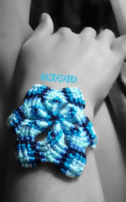 #pulsera con mandala #Azul en #Macrame