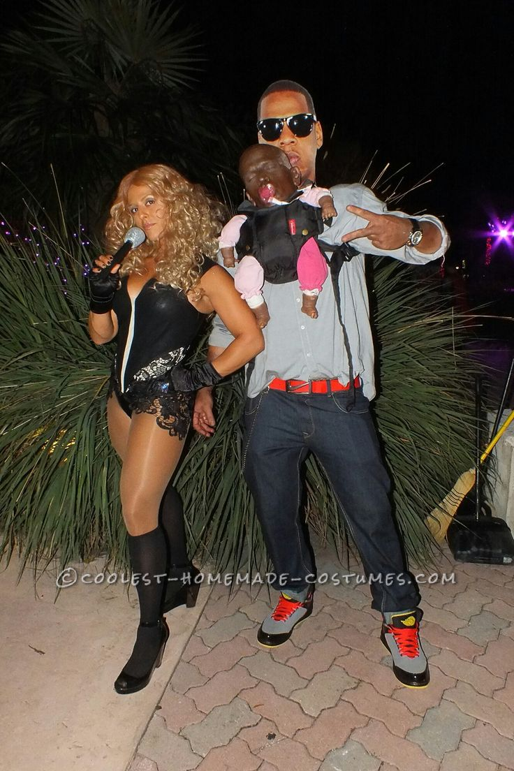 Funny Illusion Couple Costume Jay Z Beyonce And Blue Ivy & Costume Ideas A Z - Meningrey