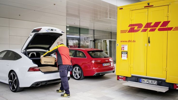 Audi, DHL, and Amazon have been working on a system where you can have your Amazon packages delivered straight to your car's trunk.  http://rescars.com/audi-owners-will-be-able-to-get-their-amazon-prime-packages-in-their-cars/