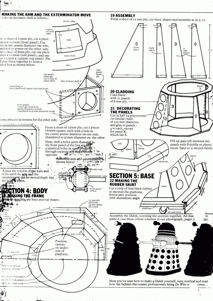 Complete blueprints for making your own full-size Dalek | Blastr